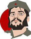 Cartoon: Che Guevara poster (small) by geomateo tagged che guevara cuba castro revolution