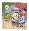 Cartoon: Skeleton Model (small) by mikess tagged skeletons,bones,skull,and,cross,danger,hazard,hazardous,materials,waste,death,dead,artist,painting,painter,artists,model,paint,brush,nude,barrel,studio