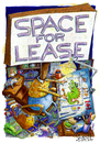 Cartoon: Space for Lease (small) by mikess tagged artist,freelance,drawing,signs,desk,space,for,lease,working,cartoons,cartooning,illustrating,cats,billboards,advertising,telephone,home,office