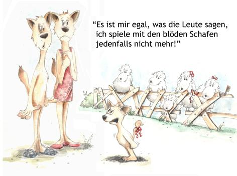 Cartoon: Es ist mir egal (medium) by KREMPEL tagged wolfsfamilie