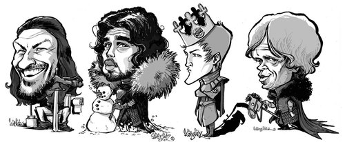 Cartoon: Game of Thrones (medium) by stieglitz tagged game,of,thrones,characters,karikatur,caricature,caricatura
