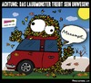 Cartoon: Achtung Laubmonster! (small) by BRAINFART tagged laub,monster,beweismittel,sensation,brainfart,art,comic,cartoon,character,fun,funny,lustig,spass,witzig,toonpool,herbst,nebel,jahreszeit
