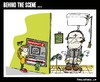 Cartoon: Behind the Scene (small) by BRAINFART tagged comic,cartoon,character,art,humor,lustig,witzig,zeichnung,drawing,fun,amazing,toonpool,bank,money,capitalism,banker,dirty,atm