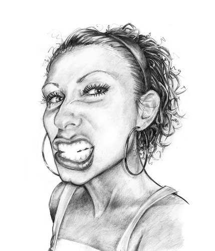 Cartoon: B. nice (medium) by michaelscholl tagged funny,face,woman,pencil,drawing