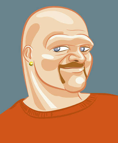 Cartoon: morrell (medium) by michaelscholl tagged vector,cartoon,bald,man