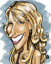 Cartoon: amanda smiles (small) by michaelscholl tagged woman,smile