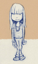 Cartoon: anna (small) by michaelscholl tagged sketch,girl,standing