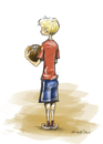 Cartoon: b-ball (small) by michaelscholl tagged boy,basketball,sports