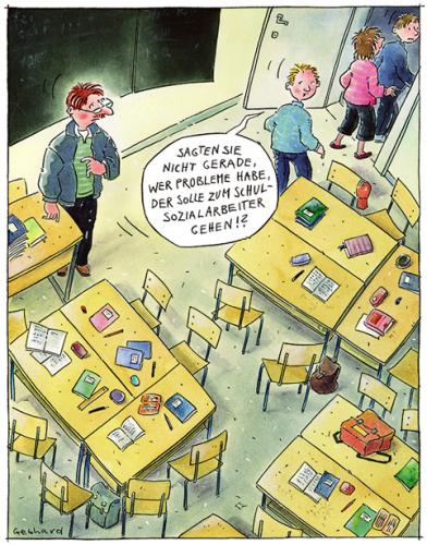 Cartoon: Schulprobleme (medium) by Gebhard tagged schule,