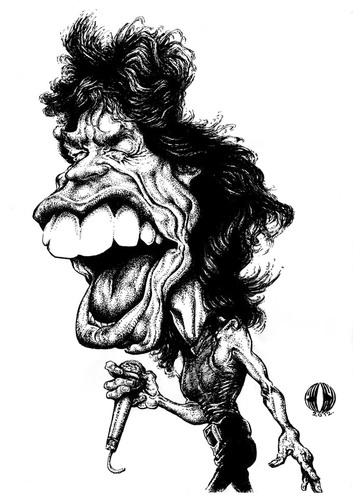 Cartoon: Mick Jagger 1 (medium) by Grosu tagged rockmusicmickjaggerrollingstones