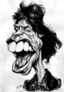 Cartoon: Mick Jagger (small) by Grosu tagged rock,music,mick,jagger,rolling,stones