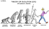 Cartoon: Political Cartoon (small) by Luis tagged evolution,2012