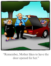 Cartoon: Mother In Law Trunk (small) by Billcartoons tagged motherinlaw,family,husband,wife,marriage,romance,romantic,love