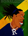 Cartoon: Ronaldinho (small) by bharatkv tagged ronaldinho football soccer fifa brazil caricature cartoon digital india bharat