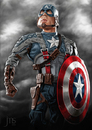 Cartoon: Captain America (small) by JMSartworks tagged caricature actors hollywood painter comic superheroe
