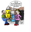 Cartoon: Messies Life (small) by Toeby tagged toeby,mark,töbermann,messie,atombombe,bombe,radioaktiv