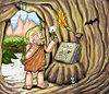 Cartoon: The first Toeby (small) by Toeby tagged cave,caveman,stoneage,höhle,höhlenmensch,steinzeit,mark,töbermann,steizeitmensch,toeby
