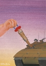 Cartoon: No War (small) by Atilla Atala tagged peace,child,baby,soldiers,tank,war