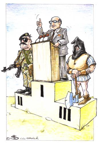 Cartoon: Podium (medium) by Liviu tagged politician,podium,politics,