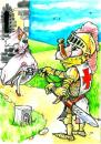 Cartoon: precaution (small) by Liviu tagged key,chastity,belt,knight,