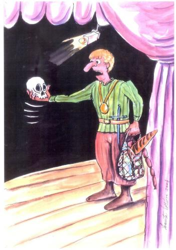 Cartoon: Hamlet (medium) by leonten tagged no,