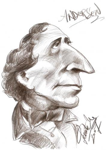 Cartoon: Hans Christian Andersen (medium) by leonten tagged no,