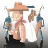 Cartoon: Öl-Kollaps (small) by haubold tagged usa,opec,brent,wti,vereinigte,arabische,emirate,scheich,cowboy,erdöl,zapfsäule,zapfhahn,fördermenge,ölpreis,duell,marktbereinigung,finanzmarkt,preisverfall,schwarzes,gold,benzinpreis,energie,oil,crash,rohstoffe