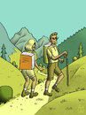 Cartoon: The Book Show - Mountain Walk (small) by haubold tagged buch,lesen,literatur,belletristik,sachbuch,prosa,bildung,wissen,medien,content,inhalt,books,reading,literature,education,knowledge,paperback,writing,schriftsteller,poet,dichter,reise,storytelling,schreiben,berge,wanderung,bergsteigen,alpin,mountains,hills