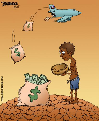 Cartoon: Not Really Helping (medium) by dbaldinger tagged starvation,famine,