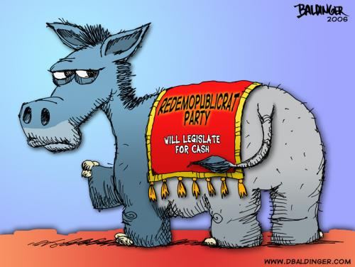 Cartoon: Redemopublicrat (medium) by dbaldinger tagged democrat,republican,mascot,politics,