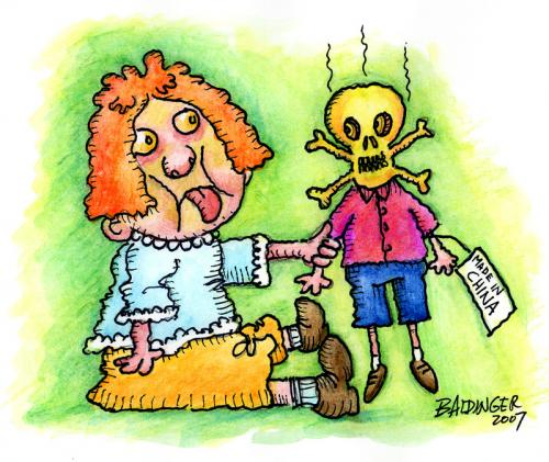 Cartoon: Toxic Toys (medium) by dbaldinger tagged toys,children,poisen,death,sickness,