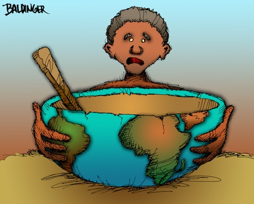 Cartoon: World Hunger (medium) by dbaldinger tagged hunger,famine,third,world,food,scarcity
