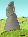 Cartoon: Easter Island Gas (small) by dbaldinger tagged monuments,idols,sculpture,ancient,mysterious,easter,island,head