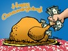 Cartoon: Happy Consumergiving! (small) by dbaldinger tagged thanksgiving,holidays,usa,workers,rights