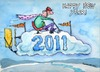 Cartoon: Happy New Year 2011 (small) by dbaldinger tagged new,year,2011