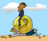Cartoon: Obama - His Nobel Prize (small) by dbaldinger tagged nobel,obama,palestine,palestinian