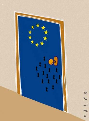Cartoon: EC door (medium) by alexfalcocartoons tagged ec,door,countries,europe
