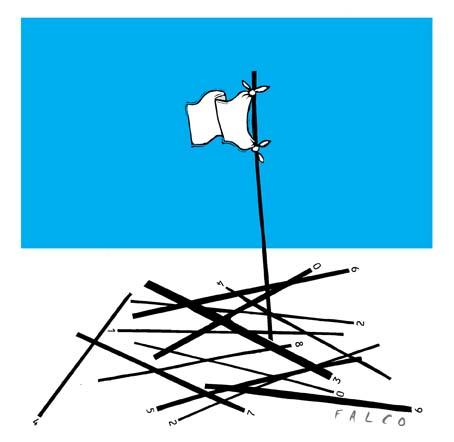 Cartoon: white flag (medium) by alexfalcocartoons tagged white,flag