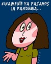 Cartoon: pandemia (small) by alexfalcocartoons tagged pandemia