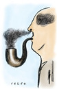 Cartoon: smoker (small) by alexfalcocartoons tagged smoker