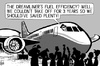 Cartoon: Dreamliner takes off (small) by sinann tagged dreamliner,boeing,787,fuel,efficiency,delay,three,years