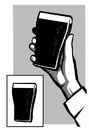 Cartoon: Guinness Phone (small) by sinann tagged guinness,phone,mobile