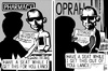 Cartoon: Lance Armstrong confession (small) by sinann tagged lance,armstrong,oprah,winfrey,confession,admission,steroid,dope