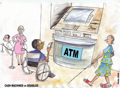 Cartoon: Special needs (medium) by fredhalla tagged atms,