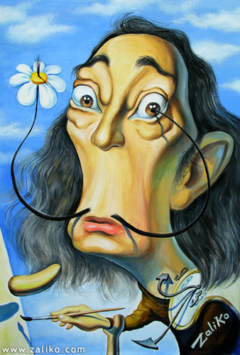 Cartoon: Salvador Dali (medium) by zaliko tagged salvador,dali