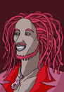 Cartoon: BOB MARLEY (small) by MERT_GURKAN tagged famous singer musician jamaica portrait caricature