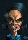 Cartoon: CONDOLEEZZA_RICE_2 (small) by MERT_GURKAN tagged politics,usa,portrait,caricature