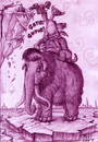 Cartoon: ICE_AGE (small) by MERT_GURKAN tagged animals,ice,age,caricature
