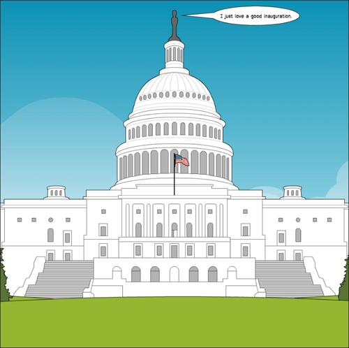 Cartoon: Capitol Thoughts cartoon (medium) by BinaryOptions tagged binary,option,options,trade,trader,trading,optionsclick,capitol,washington,politics,political,inauguration,financial,economic,america,editorial,news,cartoon,webcomic