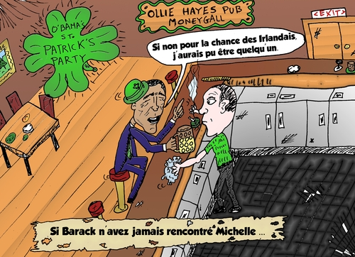 Cartoon: Caricature Obama Iralandais (medium) by BinaryOptions tagged option,binaire,options,binaires,optionsclick,obama,irlandais,saint,patrick,caricature,news,infos,nouvelles,actualites,comique,webcomic